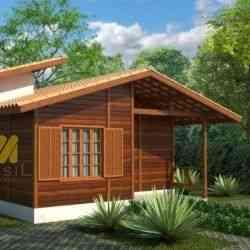 modelo de casa de madeira 1 quarto tradição