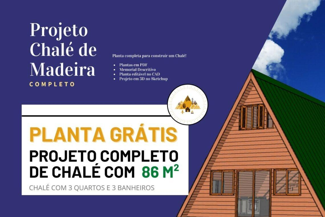 Planta de Chalé de Madeira completo