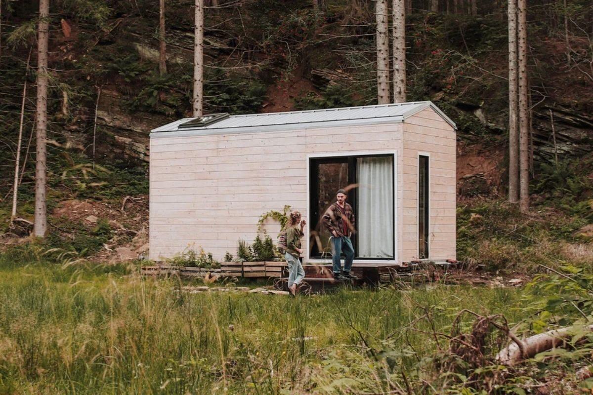 cabana de madeira moderna