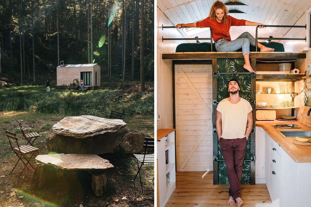 cabana de madeira moderna foto 1