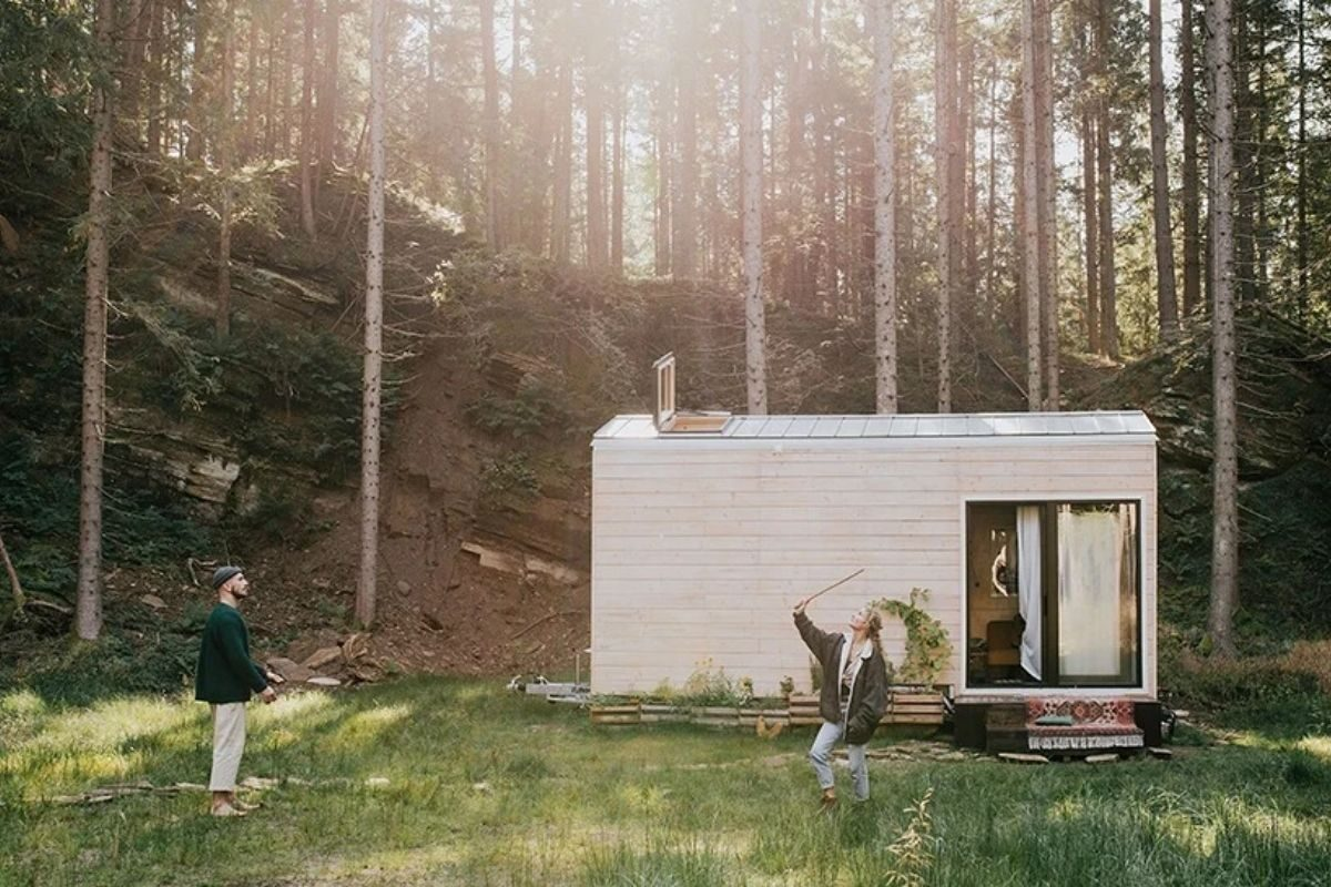 cabana de madeira moderna foto 3