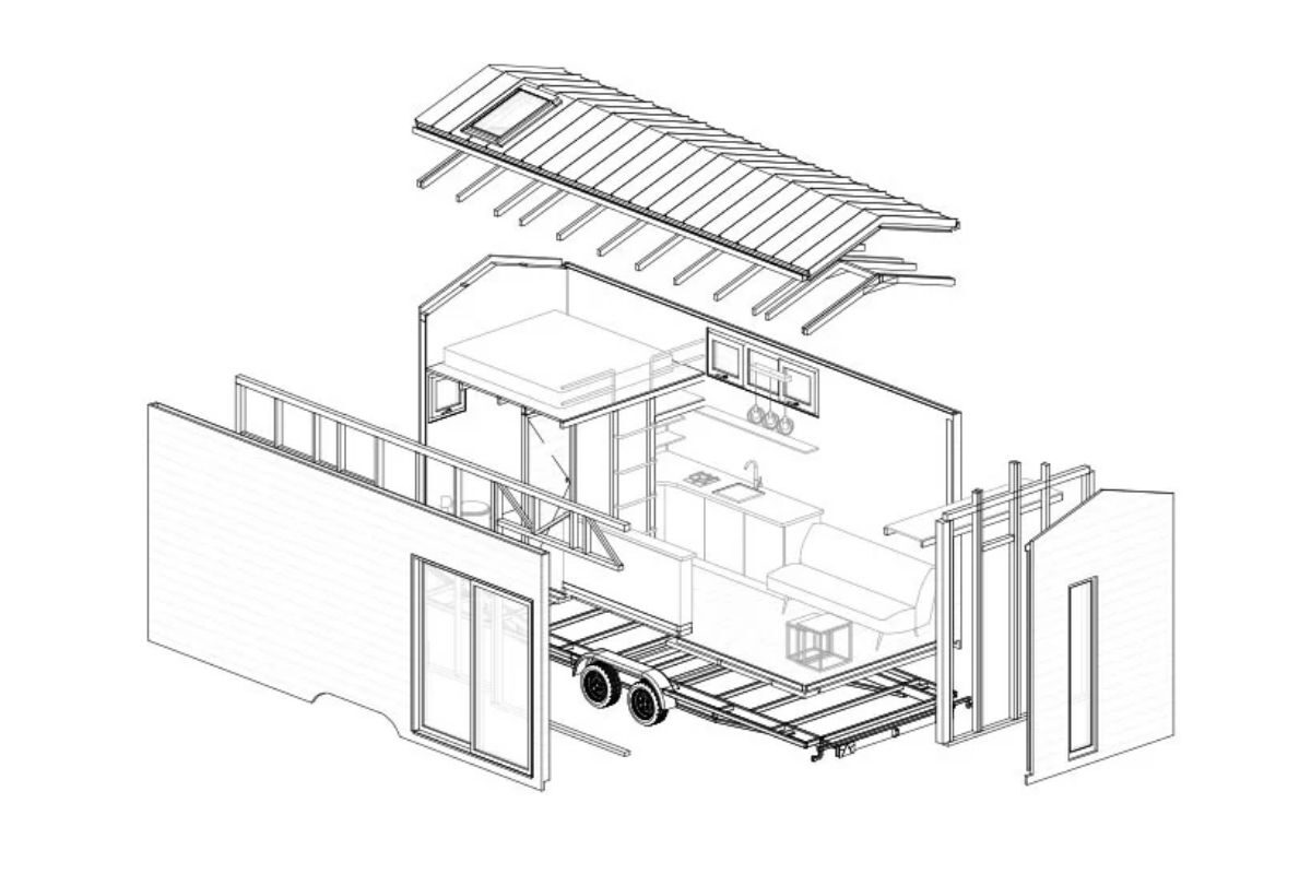 cabana de madeira moderna foto 5