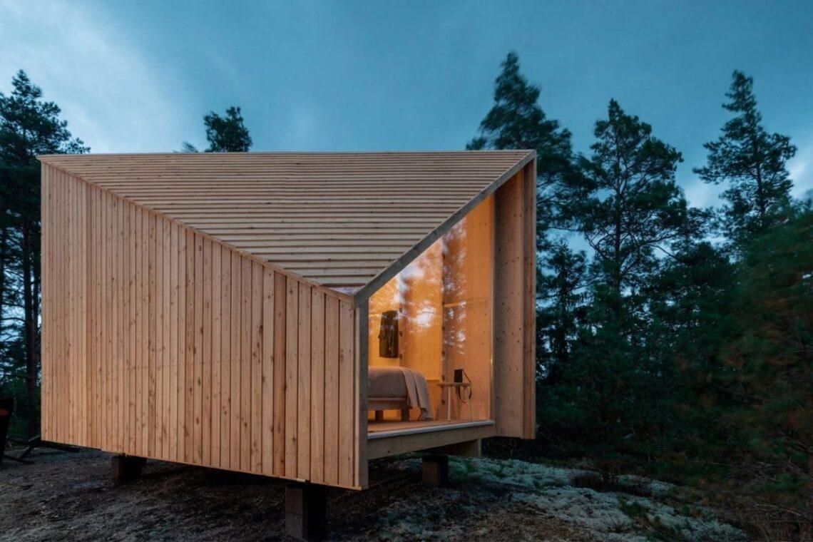 cabana de madeira modular foto 1