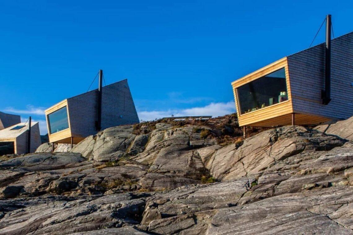 cabanas únicas com vista para o mar