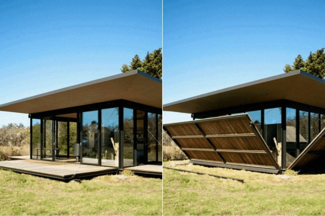casa de madeira conversíveis