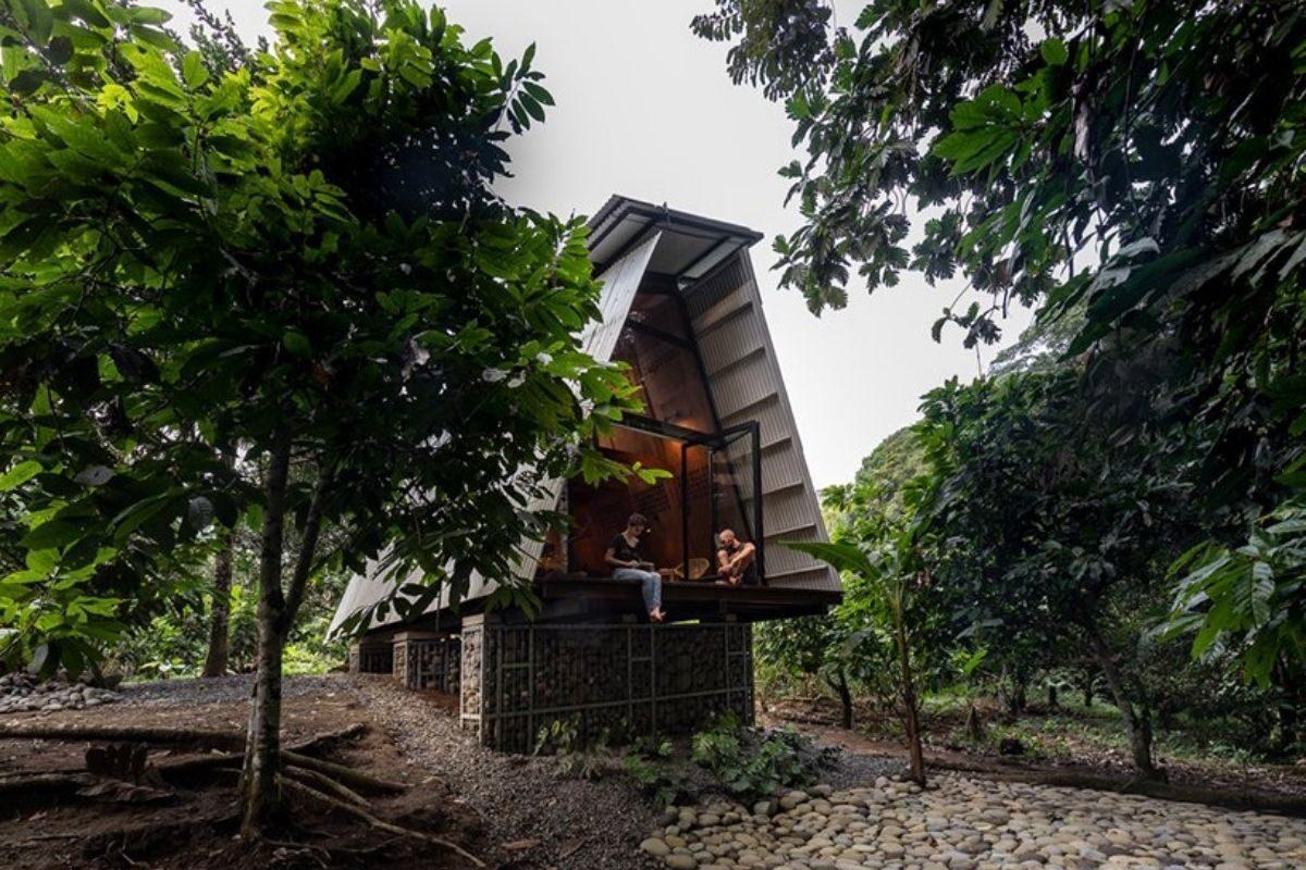 chalé de madeira sustentável foto 1