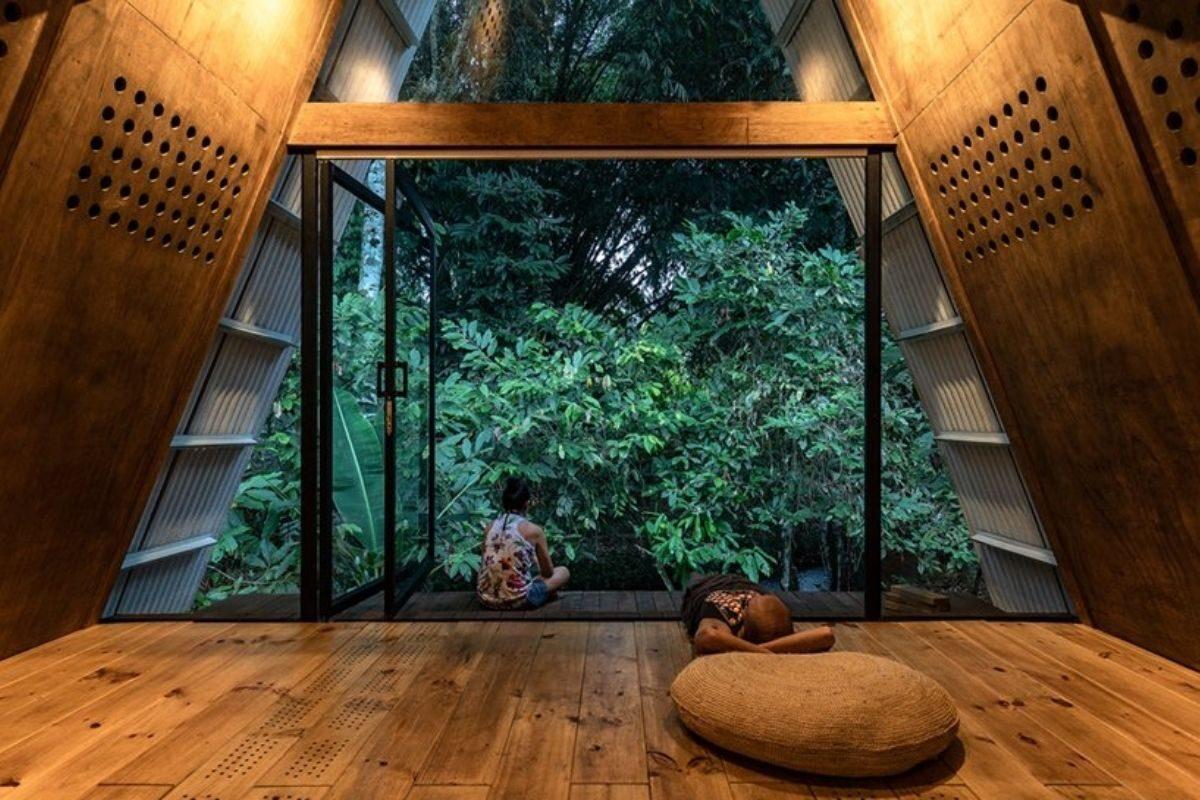 chalé de madeira sustentável foto 2