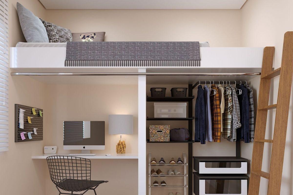 mezanino closet