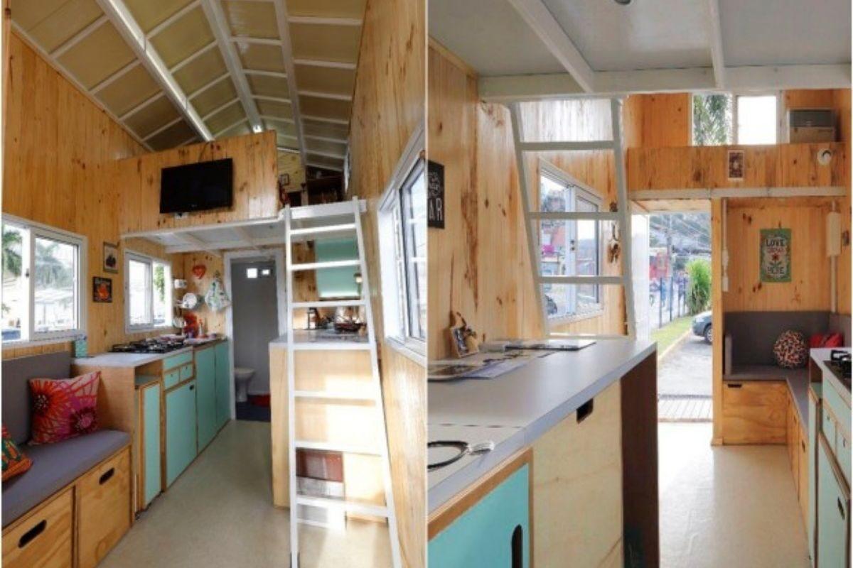 Mini Casa Tiny Brasil Interior