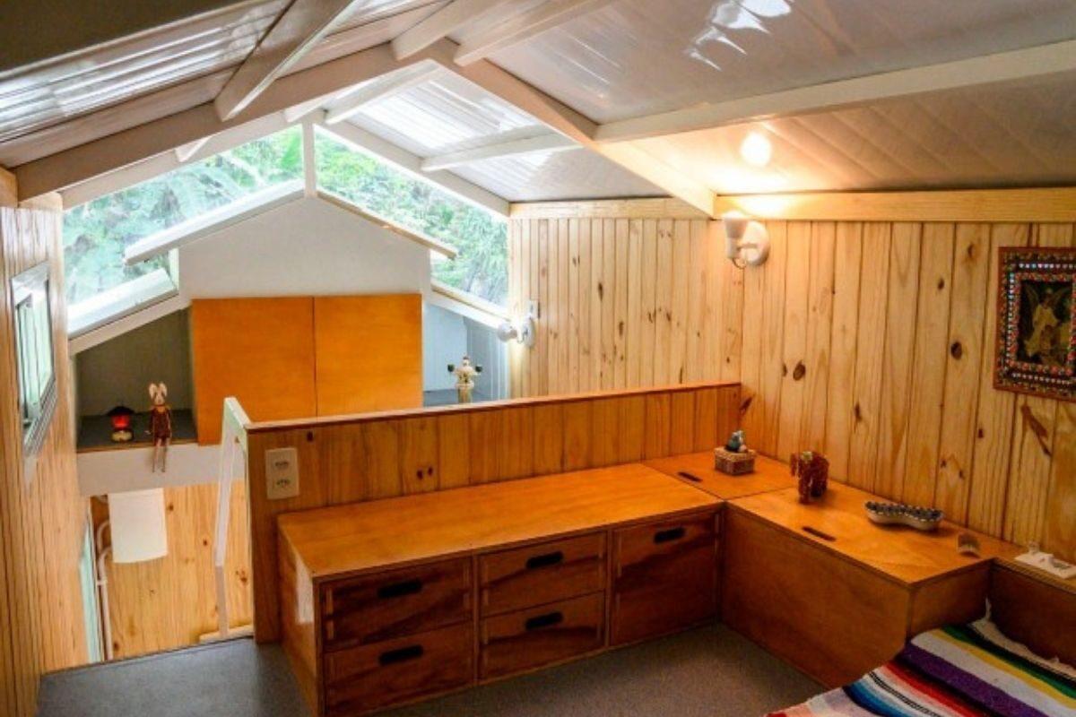 Mini Casa Tiny Brasil mezanino