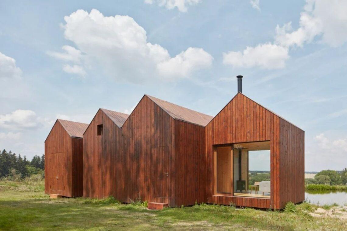 mini-casas de madeira