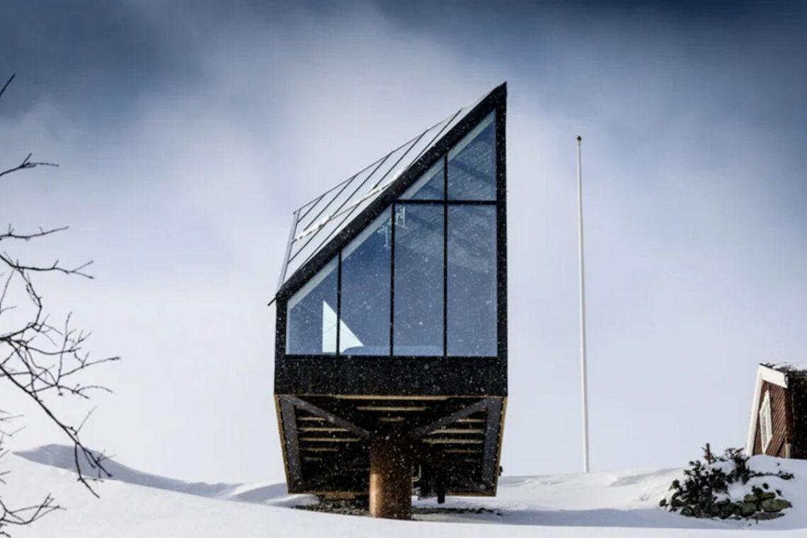 Chalé alpino contemporâneo foto 1