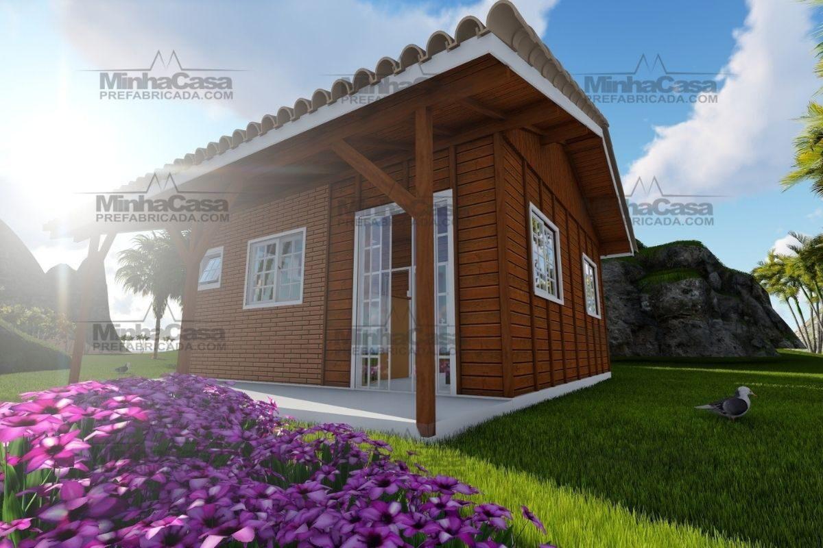 Projetos de casas de madeira 2 quartos 36 m2 2