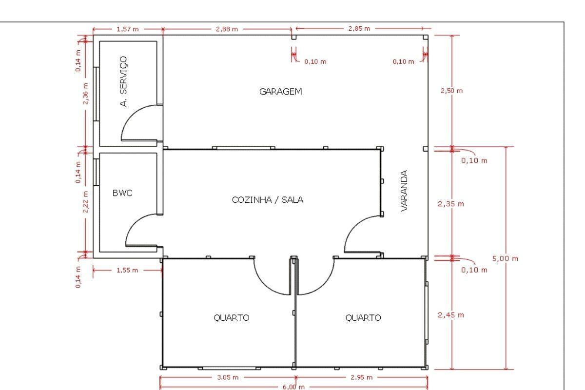 Projetos de casas de madeira 2 quartos 30 m2 1