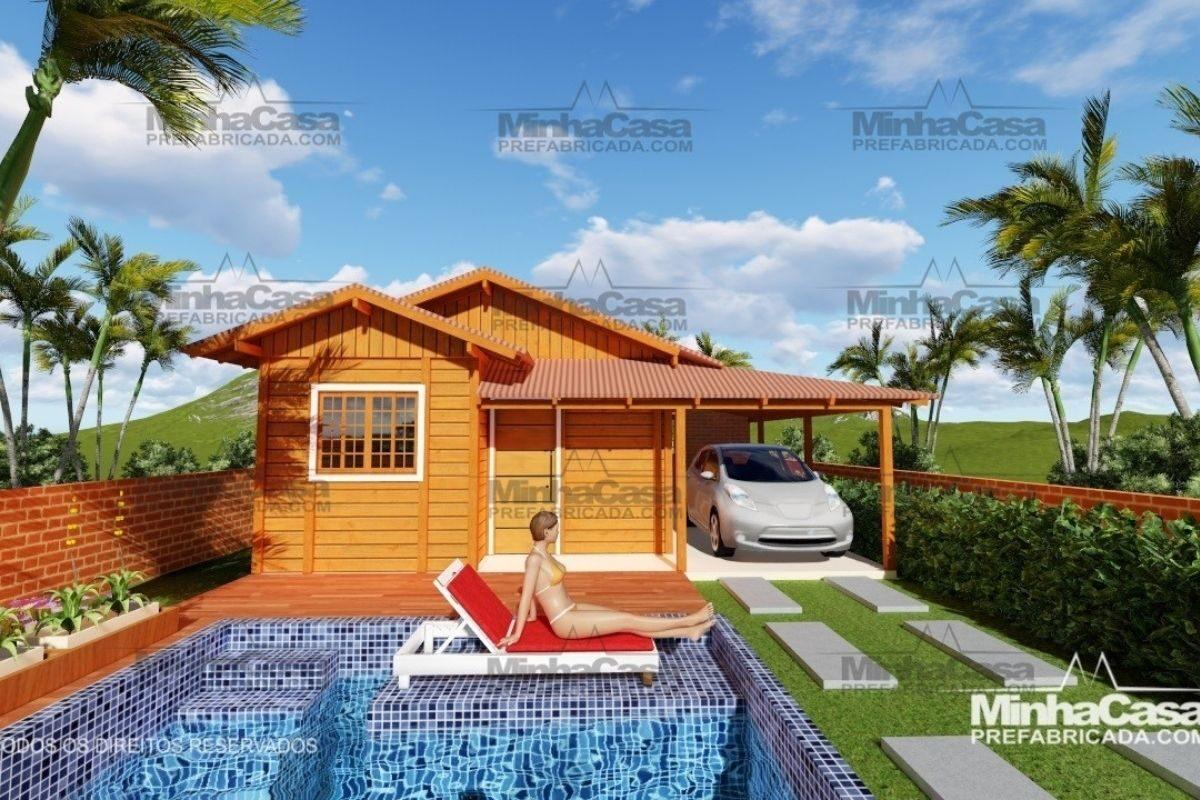 Projetos de casas de madeira 2 quartos 30 m2 2