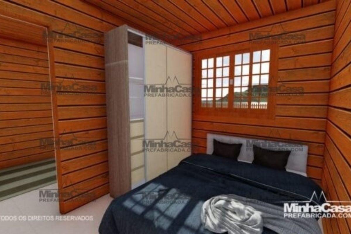 Projetos de casas de madeira 2 quartos 30 m2 3