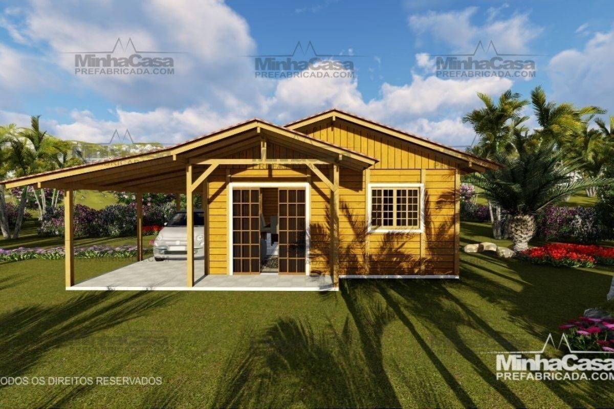 Projetos de casas de madeira 3 quartos 110 m2 2
