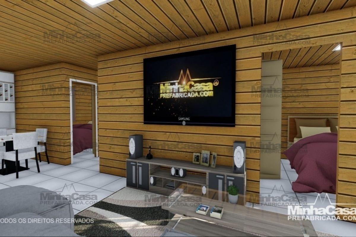 Projetos de casas de madeira 3 quartos 77 m2 3