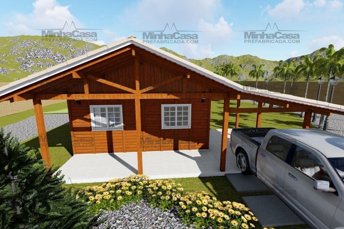 Projetos de casas de madeira 3 quartos 84 m2 2