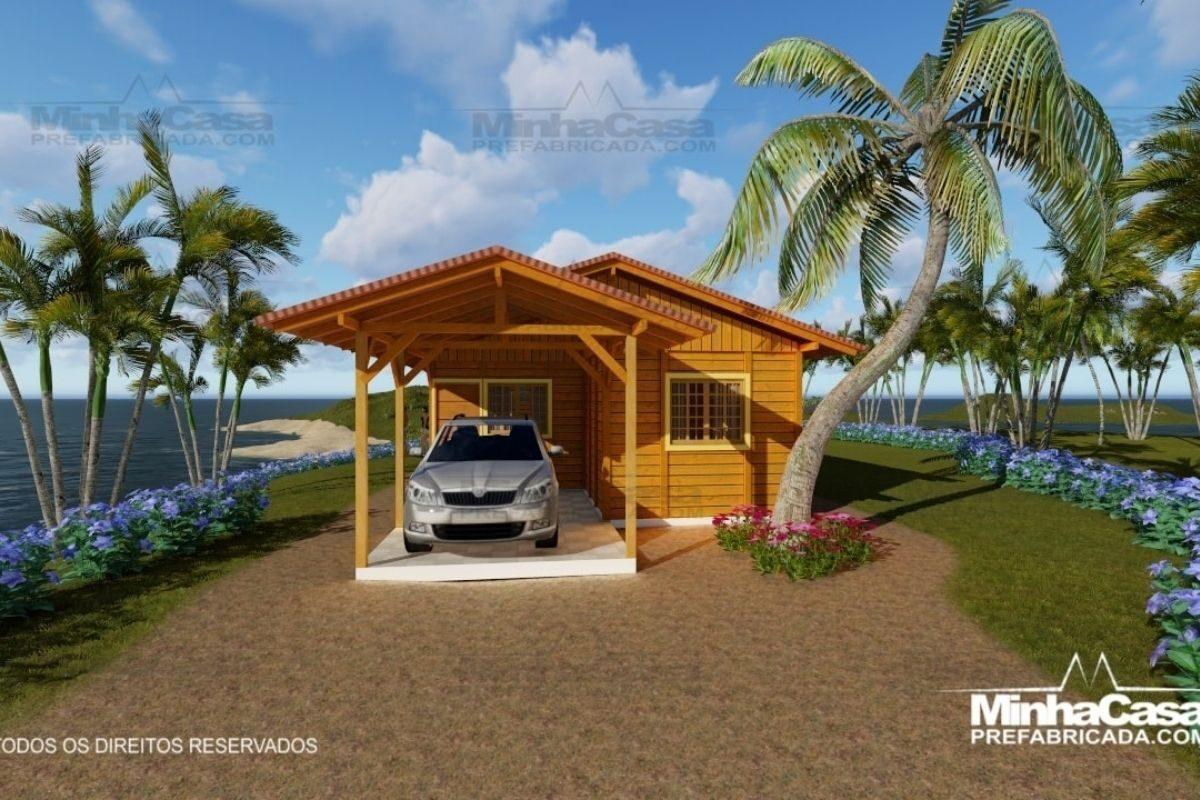 Projetos de casas de madeira 3 quartos 88 m2 2