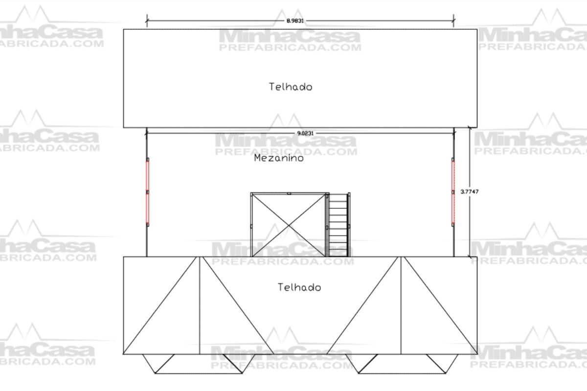 Projetos de casas de madeira 4 quartos 107 m2 2