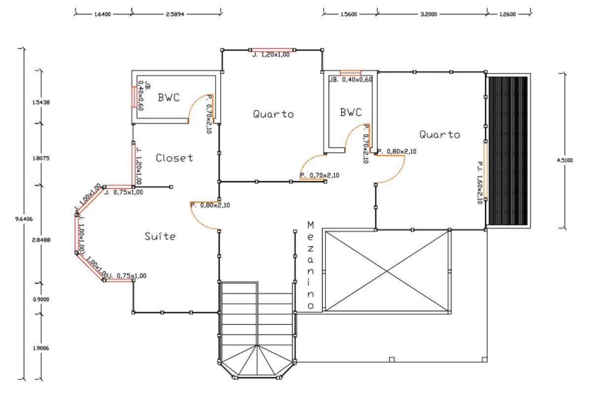 Projetos de casas de madeira 4 quartos 165 m2 1