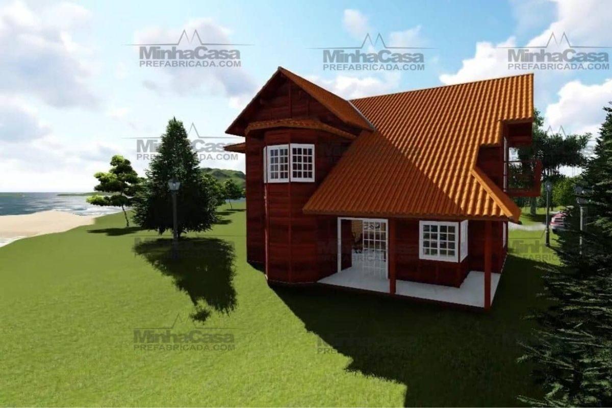 Projetos de casas de madeira 4 quartos 165 m2 3