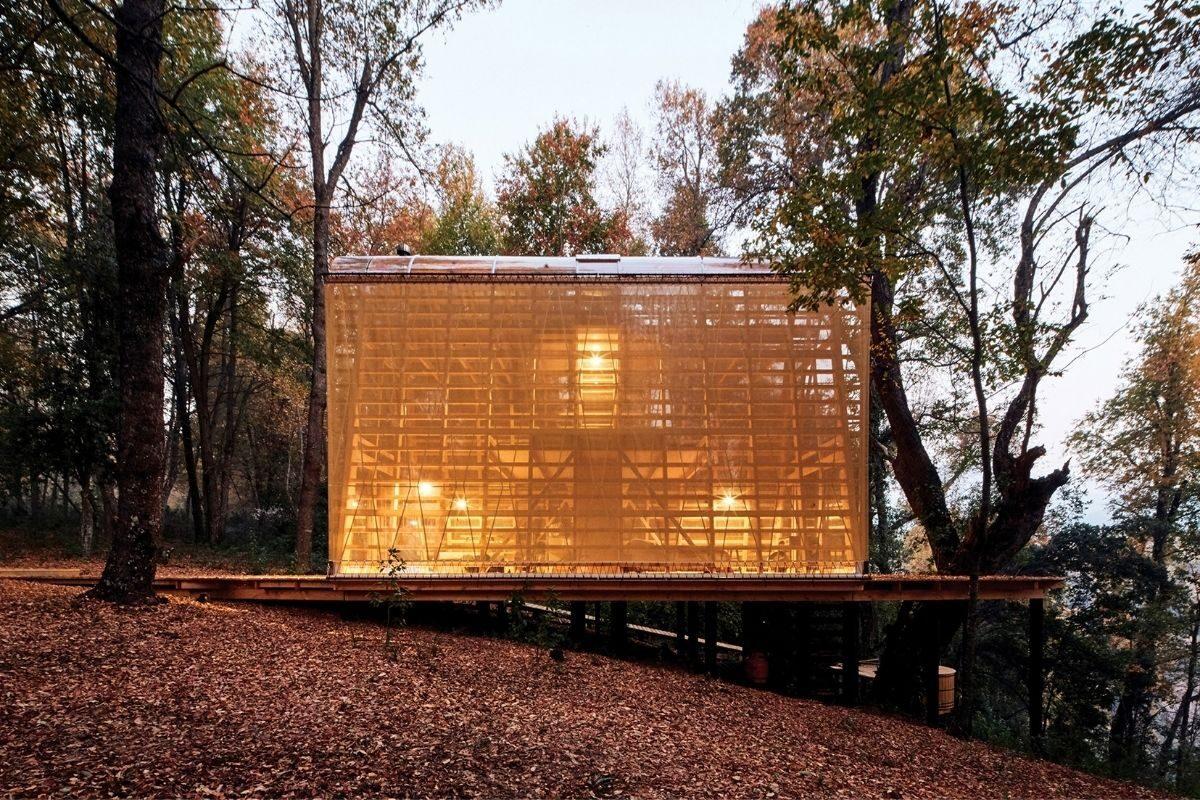 cabana de madeira translucida la invernada foto 2
