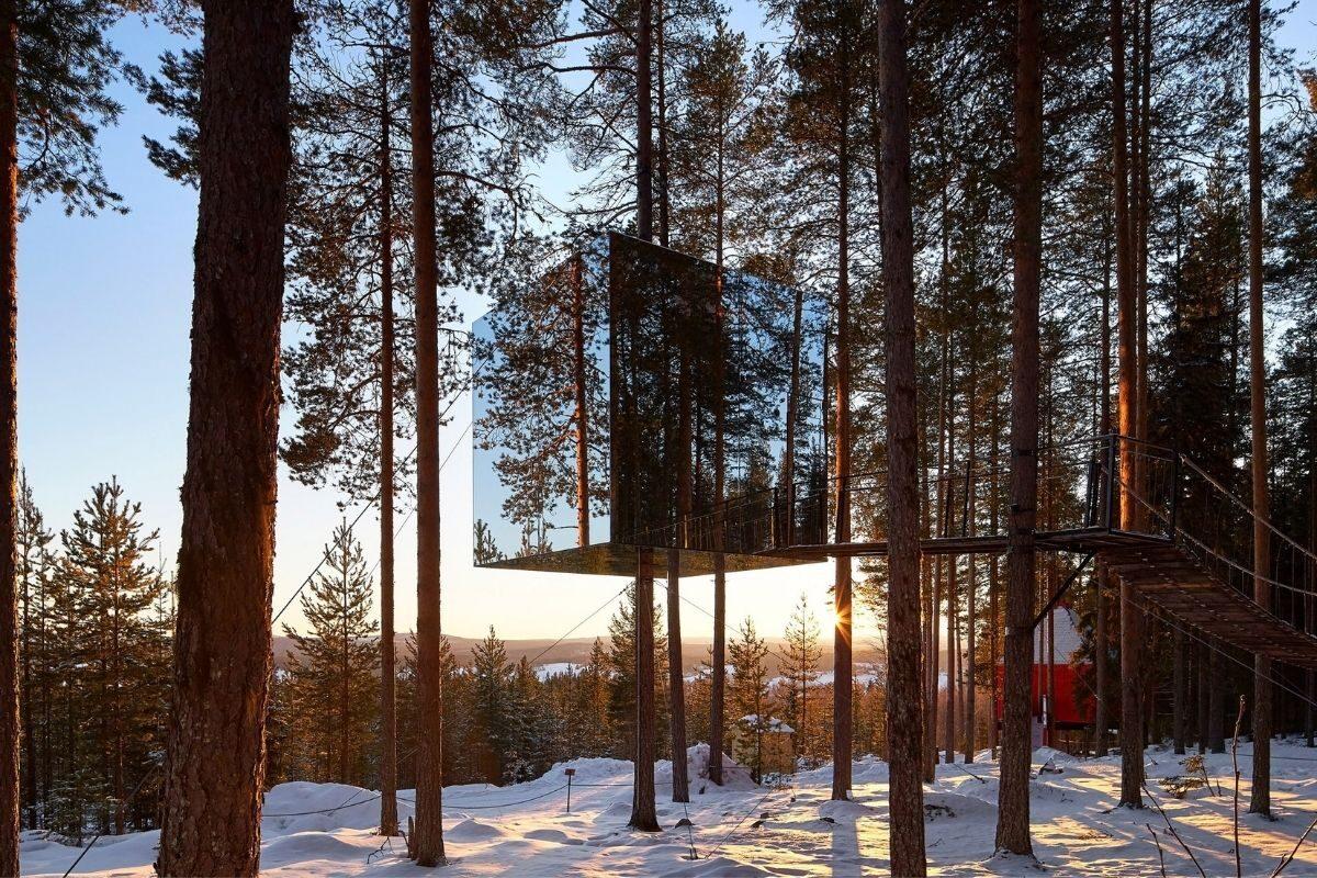 cabanas e chalés incríveis - treehotel