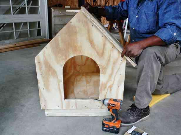 casa de cachorro de madeira passo 12