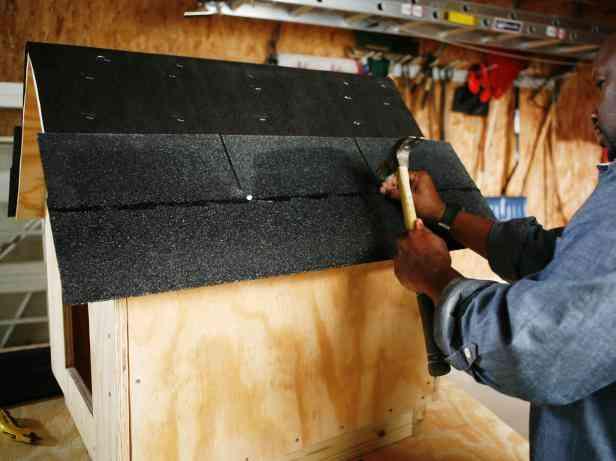 casa de cachorro de madeira passo 5