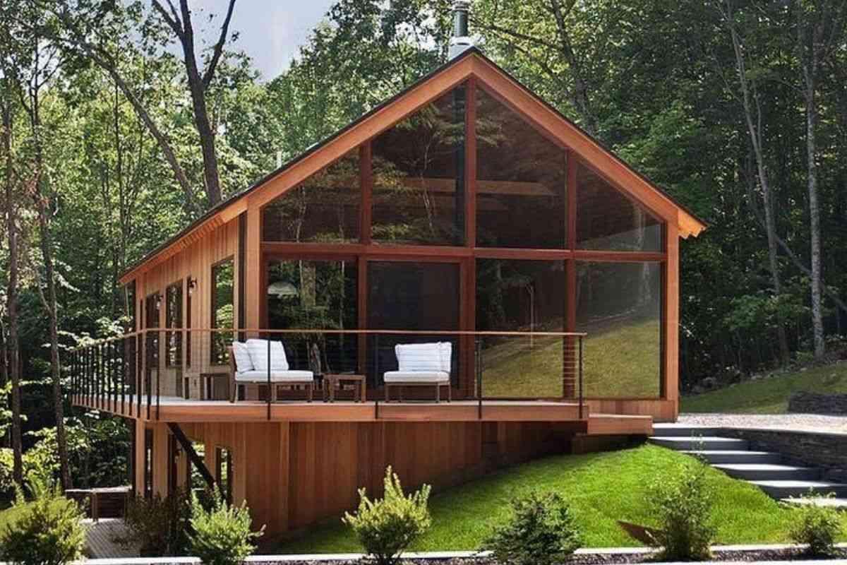 casa de madeira e vidro 15