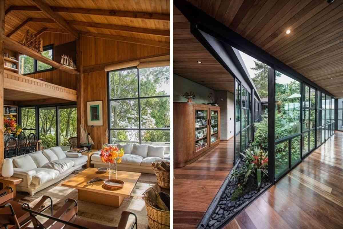 casa de madeira e vidro 20