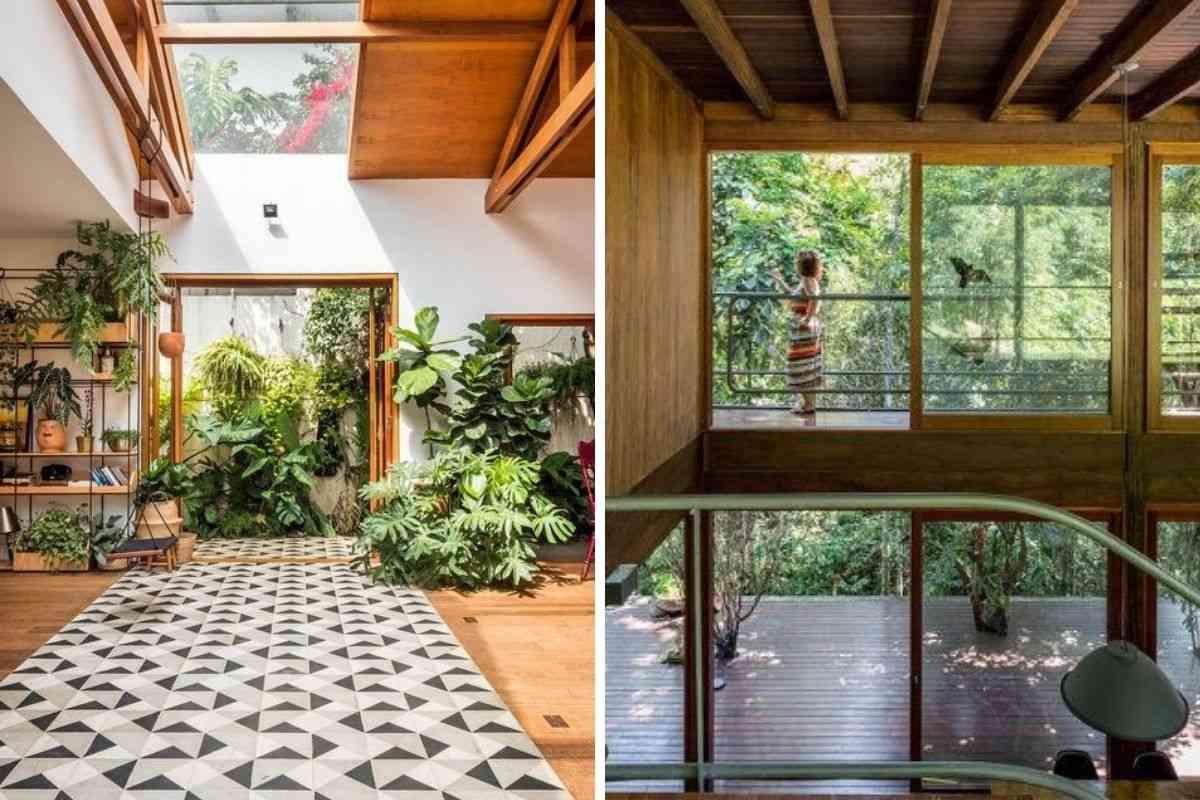 casa de madeira e vidro 22