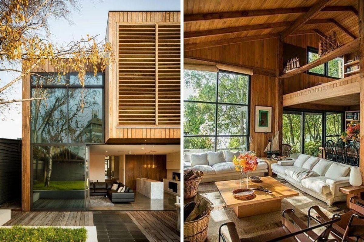 casa de madeira e vidro 23