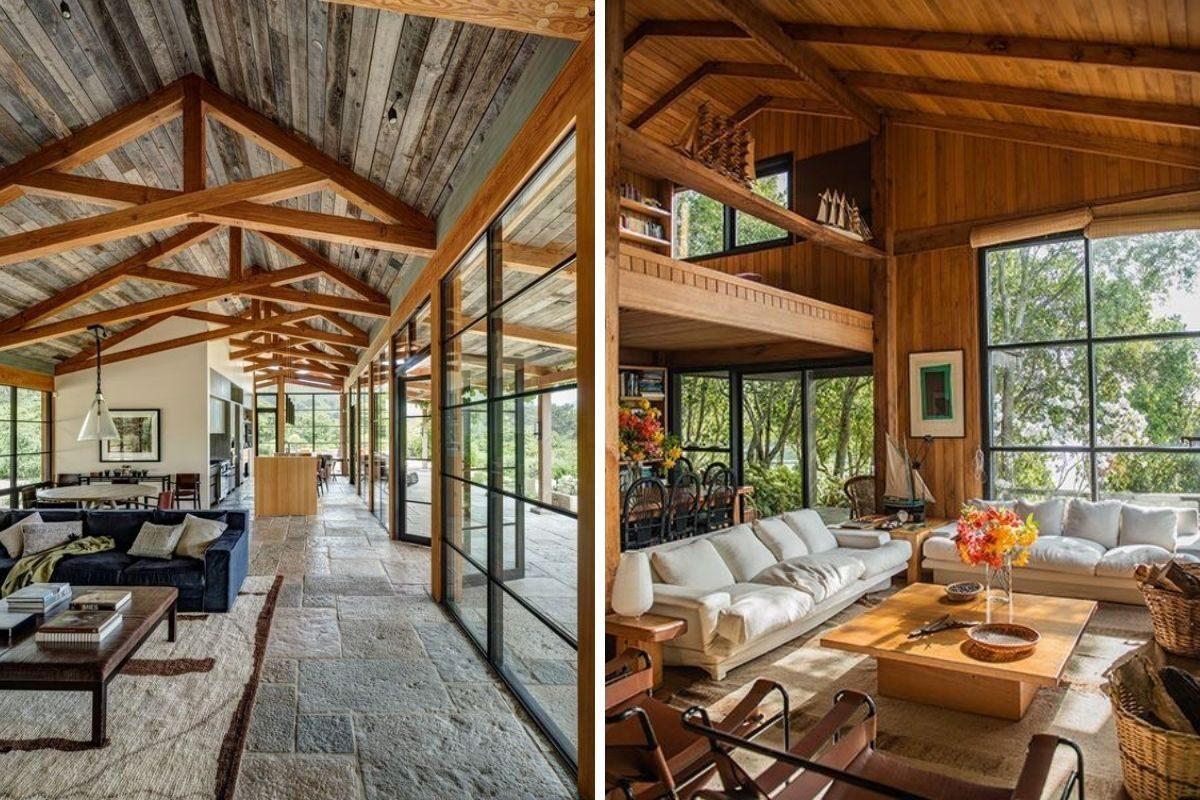casa de madeira e vidro 25