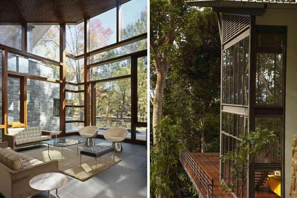 casa de madeira e vidro 28