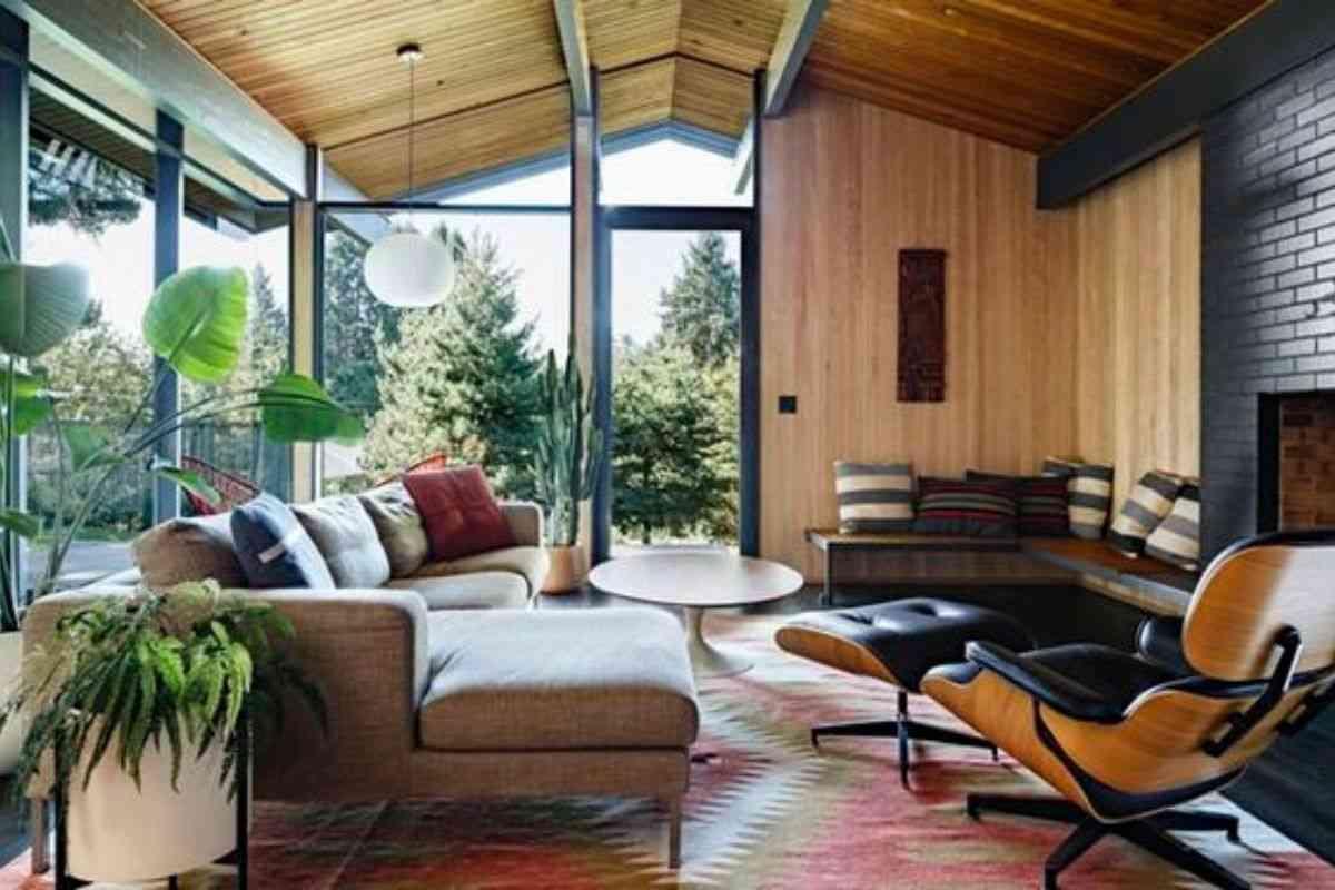 casa de madeira e vidro 5