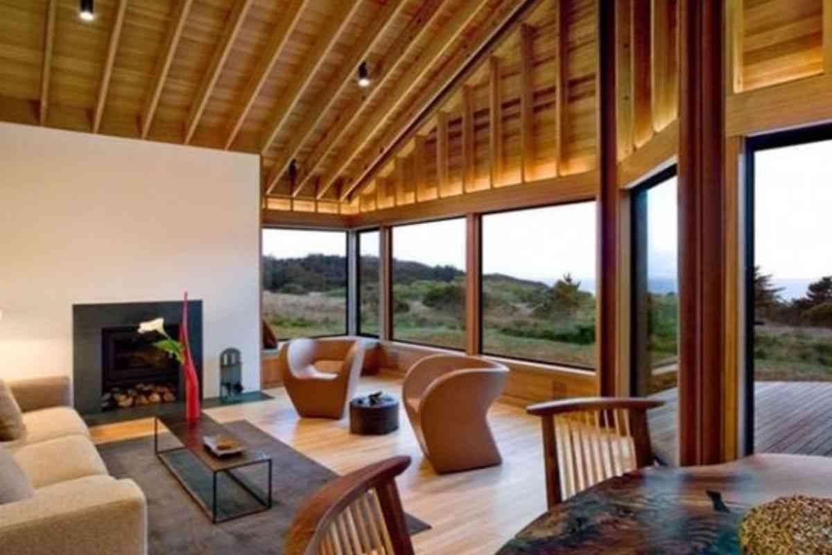 casa de madeira e vidro 9