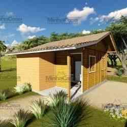 casa de madeira pré-fabricada 30 m²