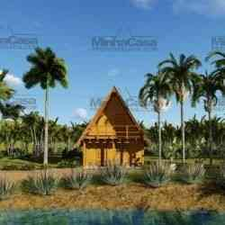 casa de madeira pré-fabricada chalé de 85 m²