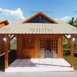 casa de madeira simples chalé pousada 4