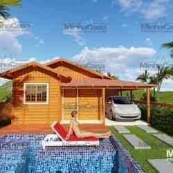 casa de madeira simples 2.2