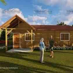casa de madeira simples pop 1,1