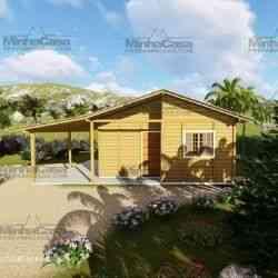 casa de madeira simples pop 30