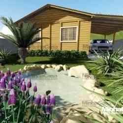 casa de madeira simples pop 4.0