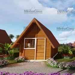 casa de madeira simples pousada pop 1.0