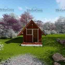 casa de madeira simples chalé pousada 19