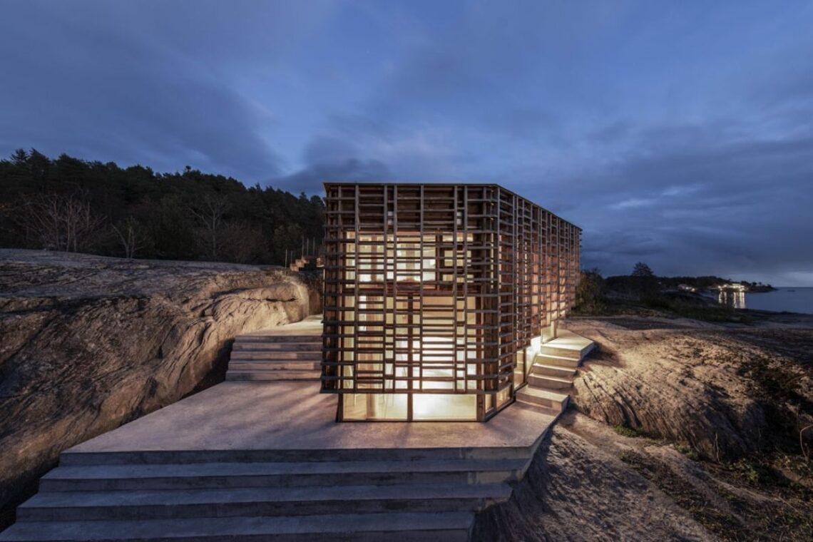 casa de vigas de madeira Atelier Oslo foto 1
