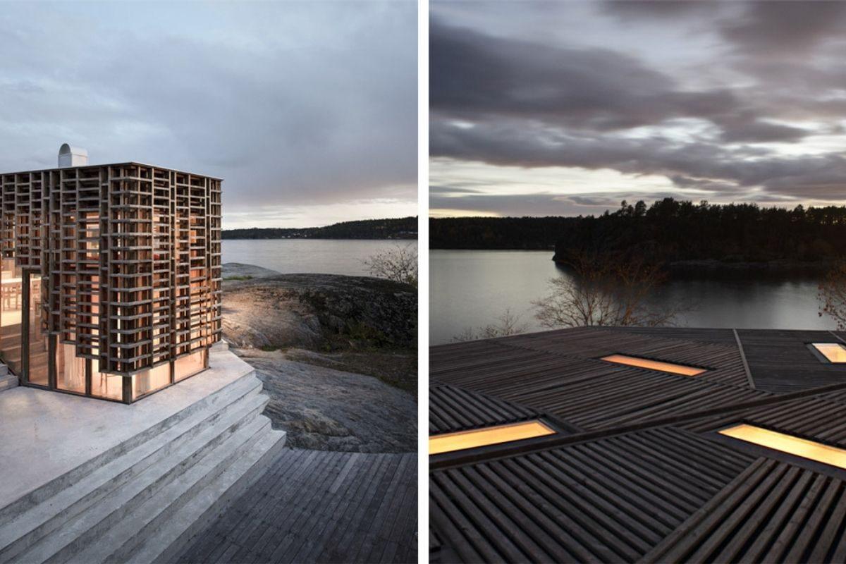 casa de vigas de madeira Atelier Oslo foto 2